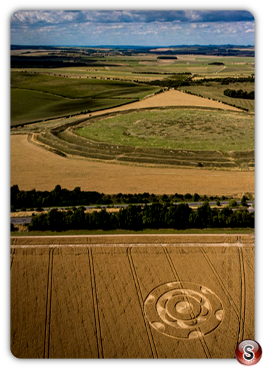 Crop circles Yarnbury Castle - Wiltshire 2020