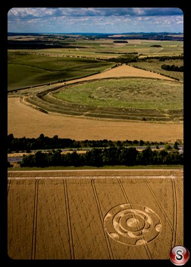 Crop circles - Yarnbury Castle Wiltshire 2020