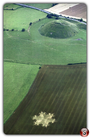 Crop circles - Silbury Hill, Wiltshire 1997