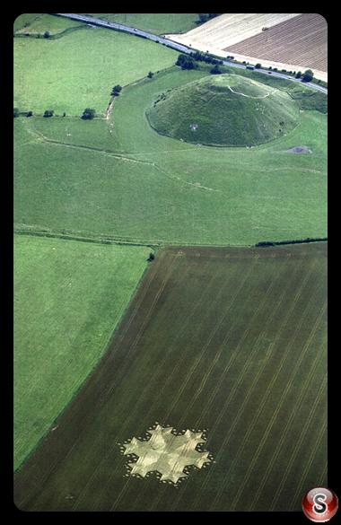 Crop circles - Silbury Hill Wiltshire 1997