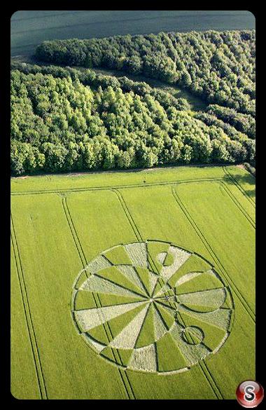 Crop circles - Liddington Castle Wiltshire 2010