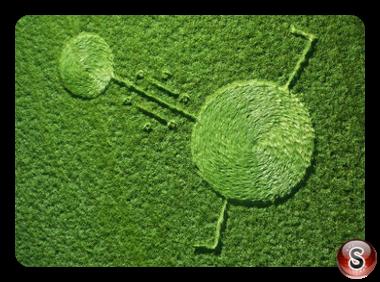 Crop circles - Hoeven Noord-Brabant Nederland 2016