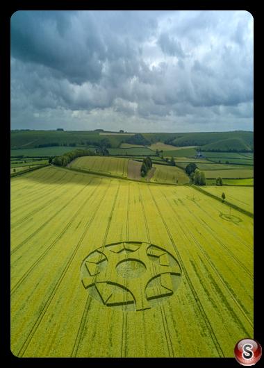 Crop circles - Maiden Bradley Wiltshire 2017