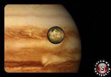 Satellite Europa che orbita intorno a Giove