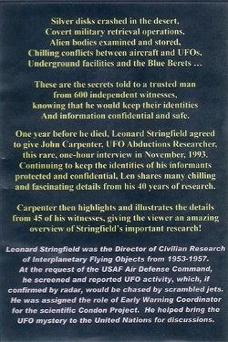 The man they trusted with military UFO secrets - Rare interview with  Leonard Stringfield