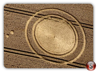 Crop circles - Cheesefoot Head, Hampshire, UK. 2012