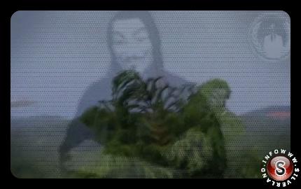 Uno screenshot del video di Anonymous
