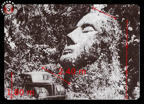 Volto scavato nella roccia - Guatemala 1930