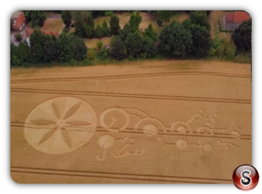 Crop circles Sutton Hall - Essex 2018