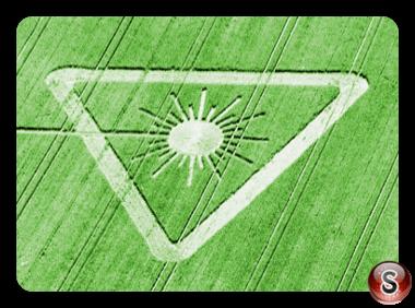 Crop circles - Hen Wood - nr East Meon Hampshire 2003