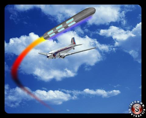 L'incontro tra l'UFO e l'aereo  - ricostruzione Silverland