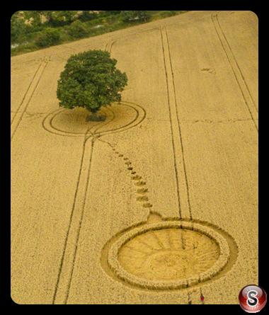Crop circles - Wotton Wawen Warwickshire 2017