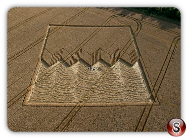 Crop circles - Devils Den, Wiltshire, UK. 2012
