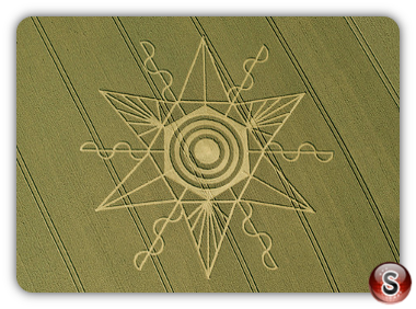 Crop circles Gussage St Andrews, Dorset 2014