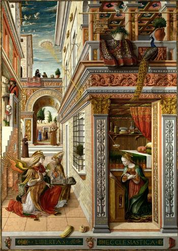 Carlo Crivelli (1430-1495)  L'Annunciazione