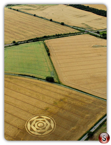Crop circles Harewell lane, Nr Besford, Worcestershire UK. 2013