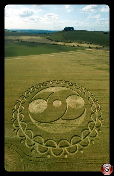 Crop circles - Furze Knoll (nr Morgans Hill), Wiltshire 2008