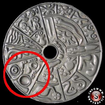 Particolare del disco con rappresentazione degli ovuli