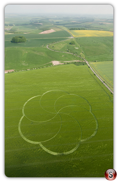 Crop circles - Hackpen Hill, Wiltshire 2008