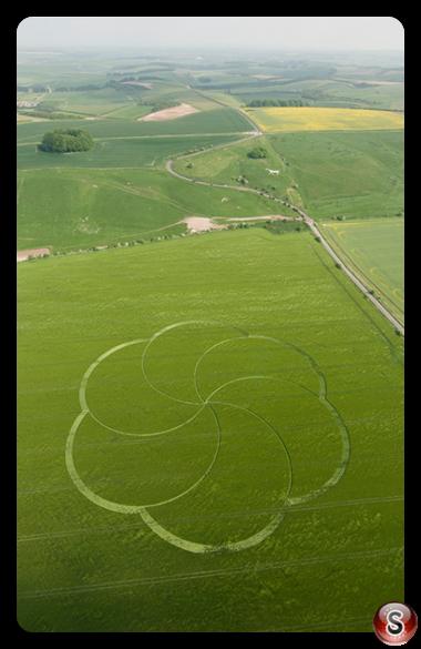 Crop circles - Hackpen Hill Wiltshire 2008
