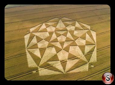 Crop circles - Ranscomb Bottom Wiltshire 2016