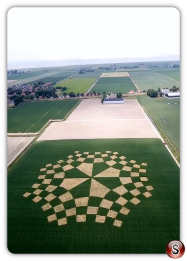 Crop circles - Udebiltdijk Friesland 2018