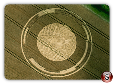 Crop circles Parkes Hill Plantation, Nr Cherington, Gloucestershire UK 2014