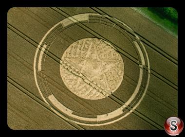 Crop circles - Parkes Hill Plantation Nr Cherington Gloucestershire UK 2014