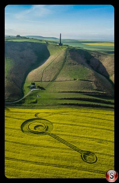 Crop circles - Cherhill Wiltshire 2017