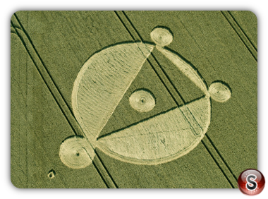Crop circles - Cow Down Nr East Kennett Wiltshire 2014