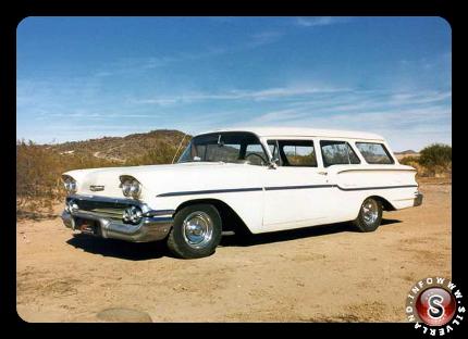 Chevy Station Wagon White 1958
