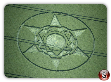 Crop circles Yatesbury, Wiltshire UK 2015