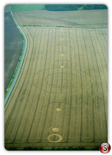 Crop circles - Uffington Oxfordshire 1994