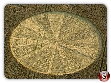 Crop circles - Bishops Cannings, Wiltshire, UK. 2012