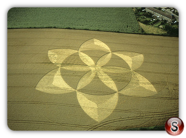 Crop circles - Englishcombe nr Bath, Somerset 2001