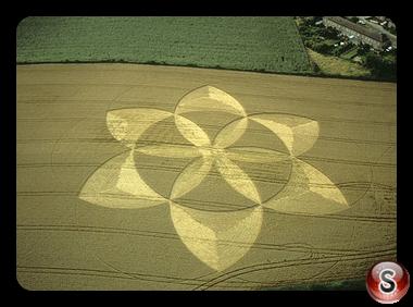 Crop circles - Englishcombe nr Bath Somerset 2001