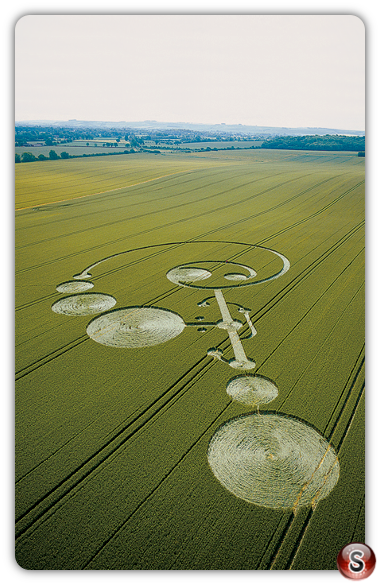 Crop circles - East Field Alton Barnes Wiltshire 2004