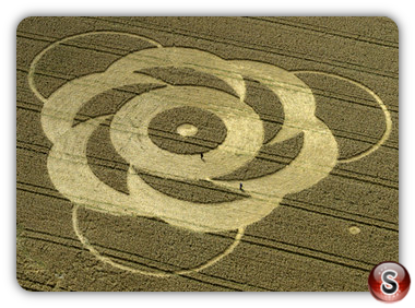 Crop circles - The Sanctuary nr Avebury Wiltshire 1998
