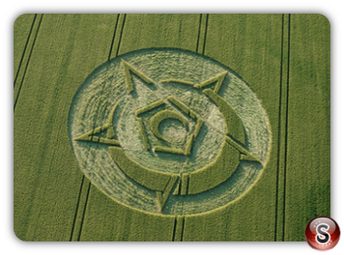 Crop circles Rollright Stones, Oxfordshire UK 2015