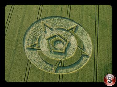 Crop circles - Rollright Stones Oxfordshire UK 2015