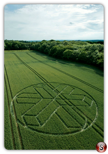 Crop circles North Horsham, Wiltshire UK 2015