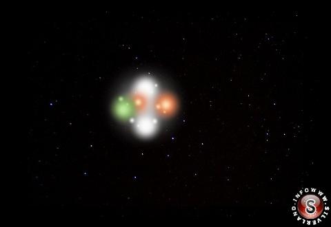 Ipotetica ricostruzione delle luci dell'oggetto volante non identificato by Silverland