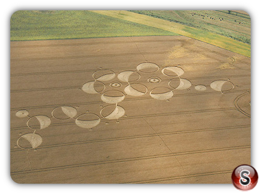 Crop circles Roundway Hill, Wiltshire, UK. 2011