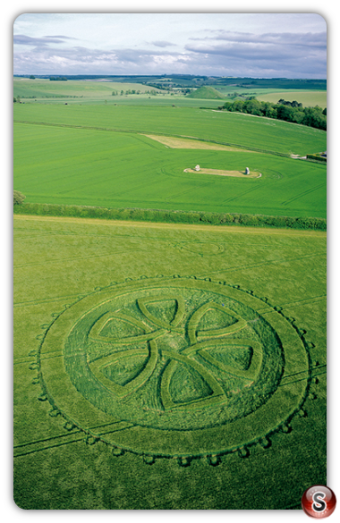Crop circles - Avebury Trusloe, Wiltshire 2002