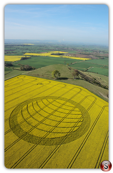 Crop circles - Olivers Castle, Wiltshire 2007