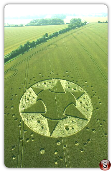 Crop circles - Lane End Down, Wiltshire 2005