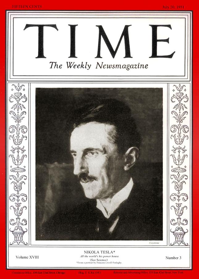 TIME Magazine: Nikola Tesla - July 20, 1931