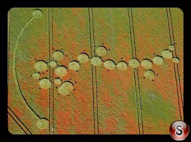 Crop circles - Ogbourne Down Wiltshire 2012