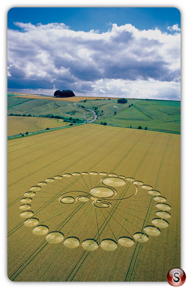 Crop circles - Hackpen Hill, Wiltshire, 2003