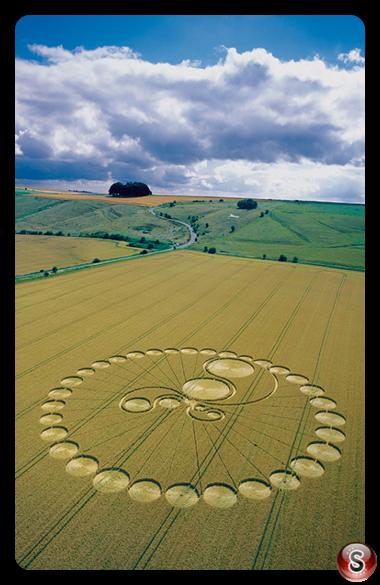 Crop circles - Hackpen Hill Wiltshire 2003